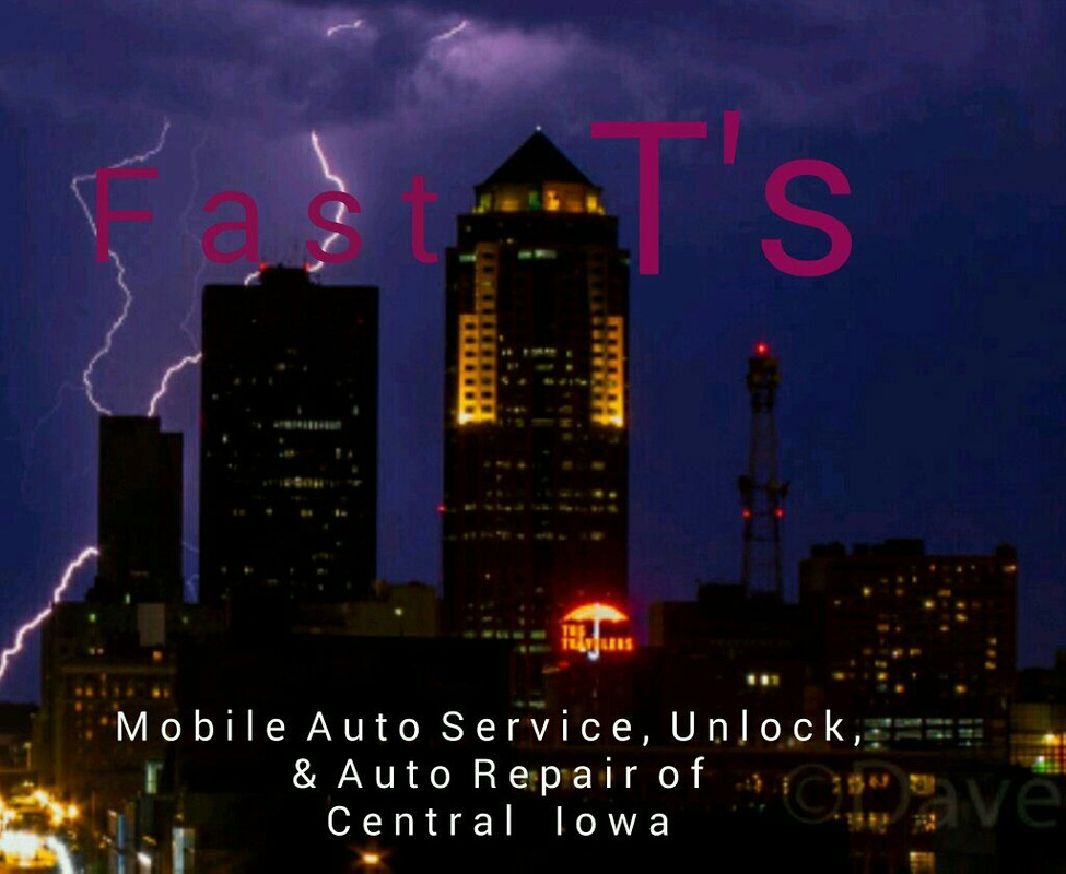 Fast T's Mobile Auto Service & Roadside Assistance...Does All Automotive Roadside,  Repair, Battery Jumpstart, Tire change, Car Unlock, Flat, Spare Tire, Lockout Tire Jump Gas In West Des Moines Iowa and All Surrounding Communities Including But Not Limited To ~ Des Moines IA, Adel IA, Altoona IA, Pleasant Hill IA, Waukee IA, Johnston IA, Grimes IA, Adel IA, Ankeny, Clive IA, Johnston IA, Grimes IA, &&& MORE!!